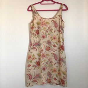 Ann Taylor Pink and Yellow Floral Dress Sz 4